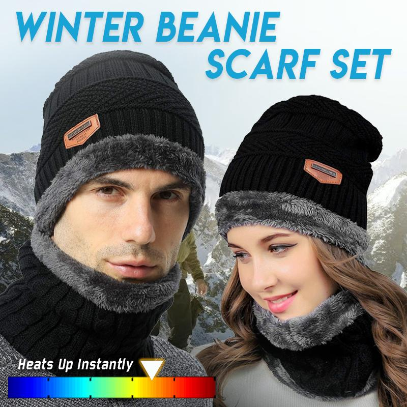 Winter Beanie Scarf Set