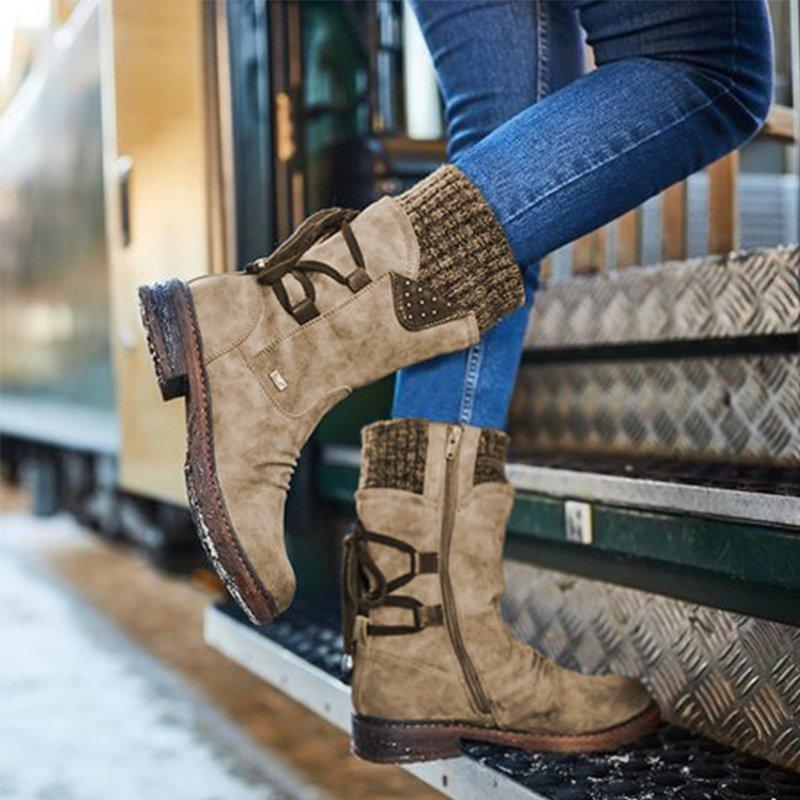 Stylish Winter Laced Boots