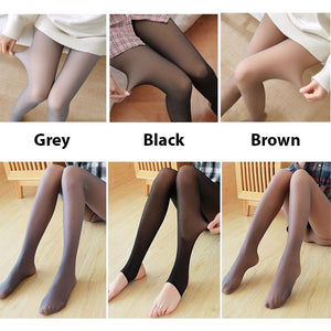 Black,85g Perfect Slimming Legs Fake Translucent Warm Fleece Pantyhose Womens Warm Fleece Lined Tights Thermal Winter Tights