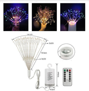 Remote Control Fireworks LED Lights
