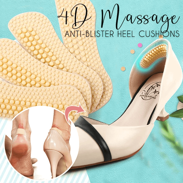 Anti-blister Silicone Massage Heel Cushions (3 Pairs)
