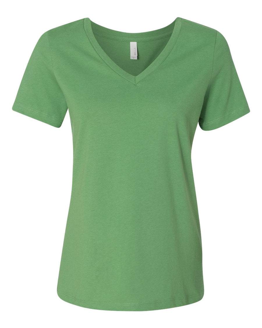 Custom V-Neck Relaxed Fit Women's T-Shirt