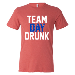 Triblend Team Day Drunk Patriotic Unisex T-Shirt