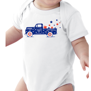 Infant Freedom Truck Onesie
