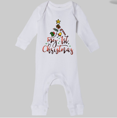 Infant My 1st Christmas Long Bodysuit