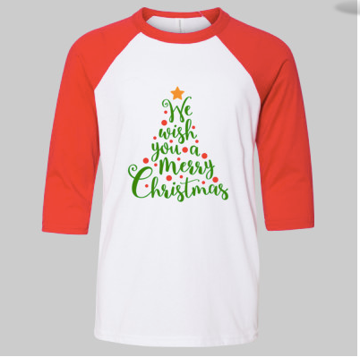 Youth Christmas Tree Raglan