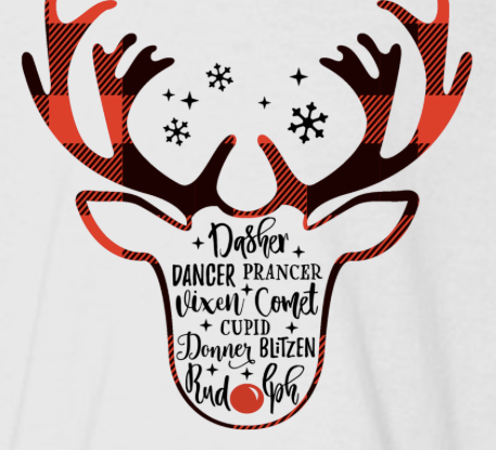 Reindeer 3/4 Sleeve Raglan: Infant, Toddler, and Youth
