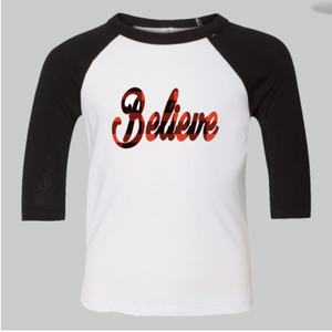 Toddler Believe Raglan