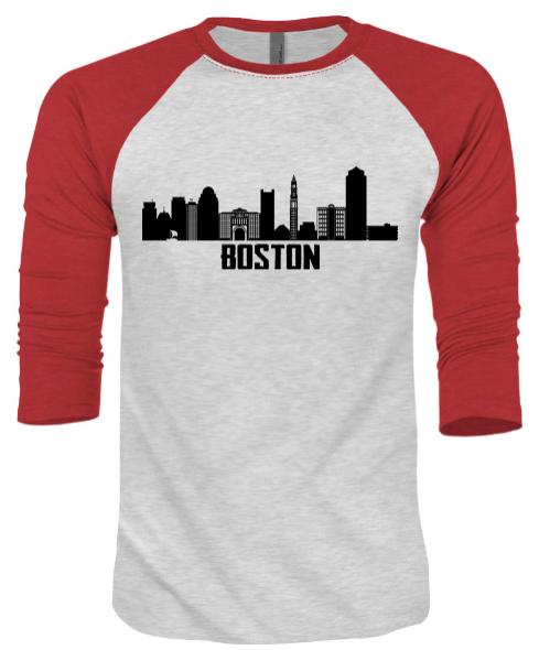 Boston Skyline Unisex Raglan