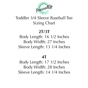 Toddler Little Firecracker 3/4 Sleeve Baseball Tee
