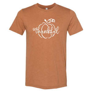 Unisex Fall Pumpkin Thankful T-Shirt