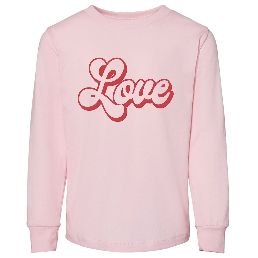 Kids's Valentine's Love Long Sleeve Shirt (toddler and youth)