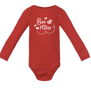 Infant Bee Mine Long Sleeve Onesie