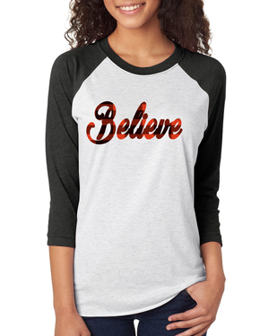 Triblend Women's Believe Raglan