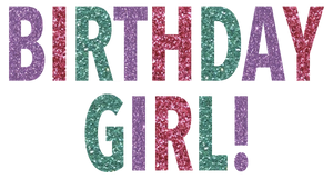 Birthday Girl Glitter T-Shirt (Toddler and Youth)