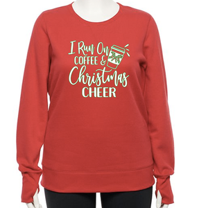 Women's Coffee and Christmas Cheer Sweatshirt