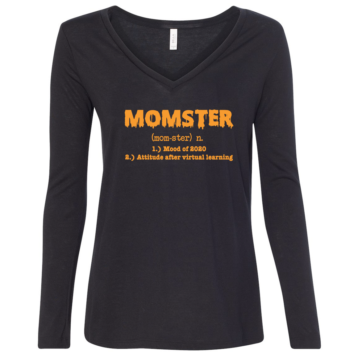 Triblend Women's Relaxed Fit Momster Long Sleeve Shirt