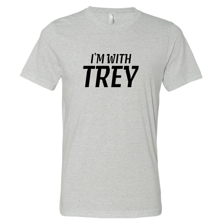 Unisex Triblend I'm With Trey White Fleck T-Shirt