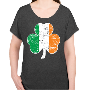 Women's Shamrock Distressed Shirt