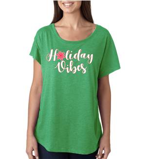 Women's Holiday Vibes Triblend Dolman