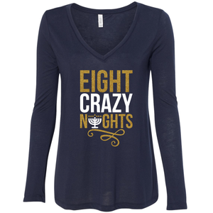 Women's Eight Crazy Night's V-Neck Long Sleeve Shirt