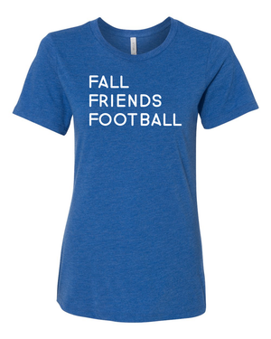 Women's Fall Friends Football Relaxed T-Shirt