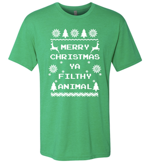 Triblend Men's Filthy Animal Green T-Shirt