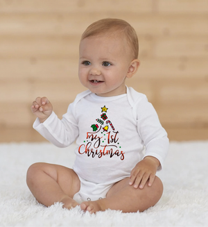 My 1st Christmas Long Sleeve Onesie