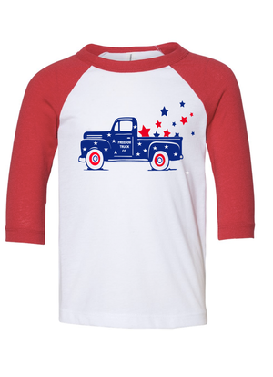 Kids Fourth of July Truck Shirt