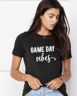 Women's Game Day Vibes Distressed T-Shirt