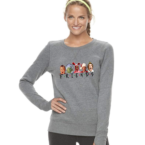 Women's Holiday Friends Grey Sweatshirt