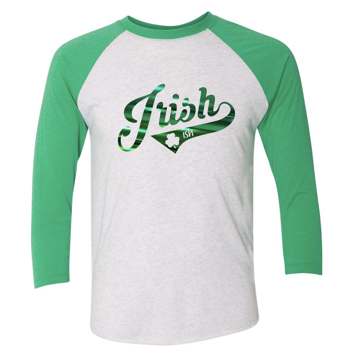Women's Triblend Irish-ish 3/4 Sleeve Raglan
