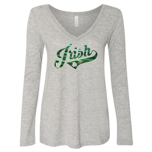 Women's Irish-ish Relaxed Fit V-Neck Long Sleeve Shirt