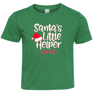 Santa's Little Helper Short Sleeve Toddler Shirt
