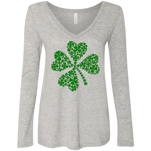 Women's Triblend Shamrock V-neck