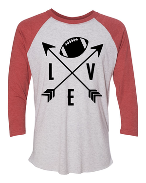 Women's Love Football Unisex Raglan