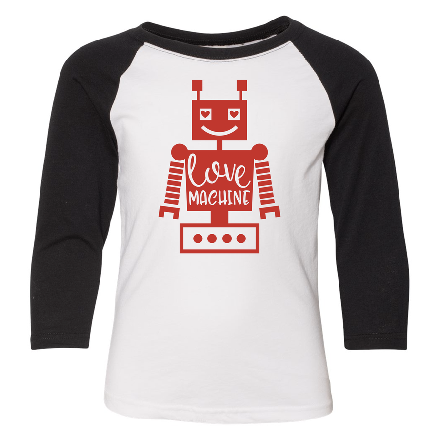 Love Machine 3/4 Sleeve Raglan (Toddler and Youth)