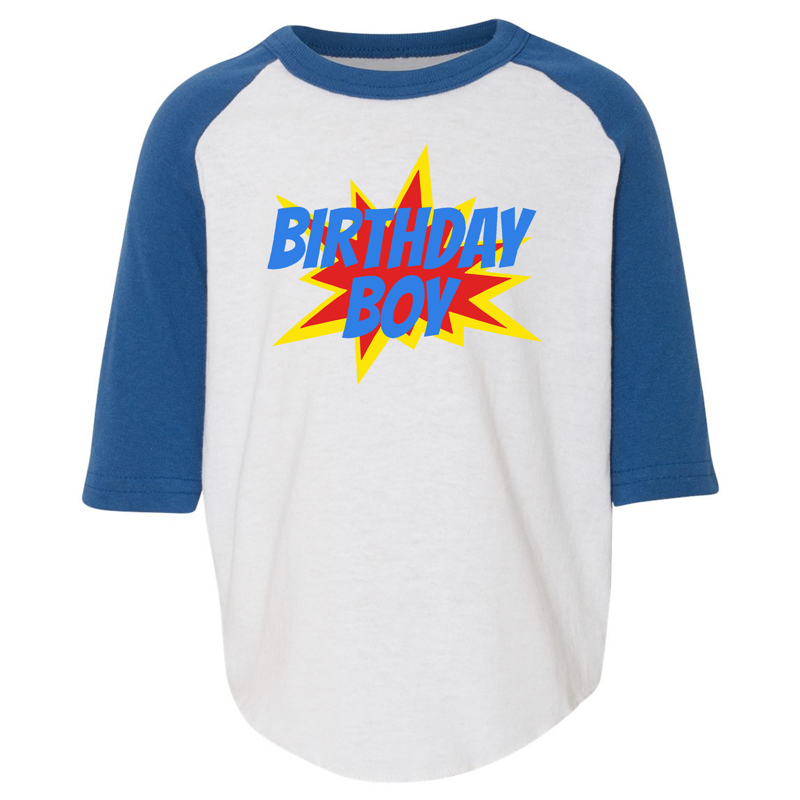 Birthday Boy Toddler Raglan
