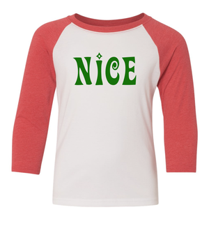 Naughty and Nice Toddler Raglan