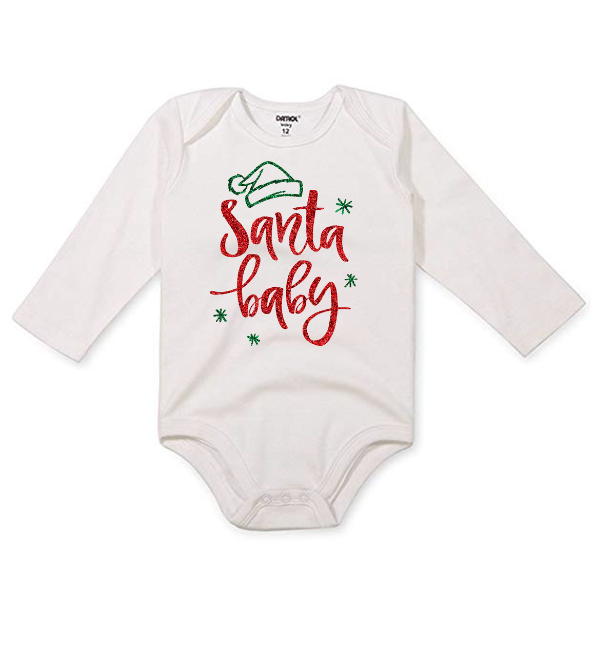 Infant Santa Baby Long Sleeve Onesie