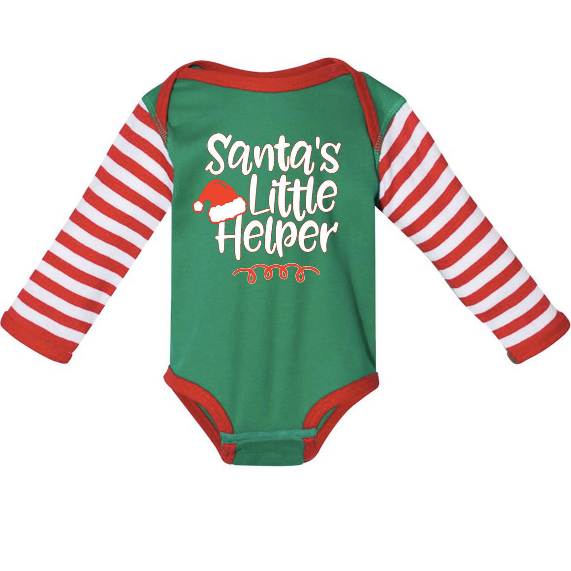 Santa's Little Helper Long Sleeve Onesie