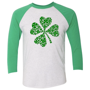 Women's Triblend Green Shamrock Raglan