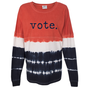 Unisex Long Sleeve Tie Dye Vote Shirt