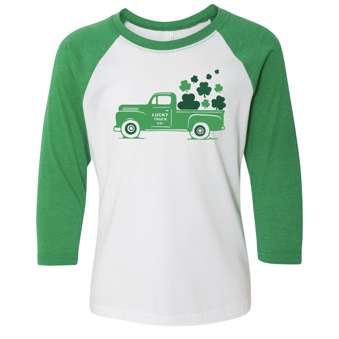 Loads of Luck Truck 3/4 Sleeve Baseball Tee (Toddler and Youth)