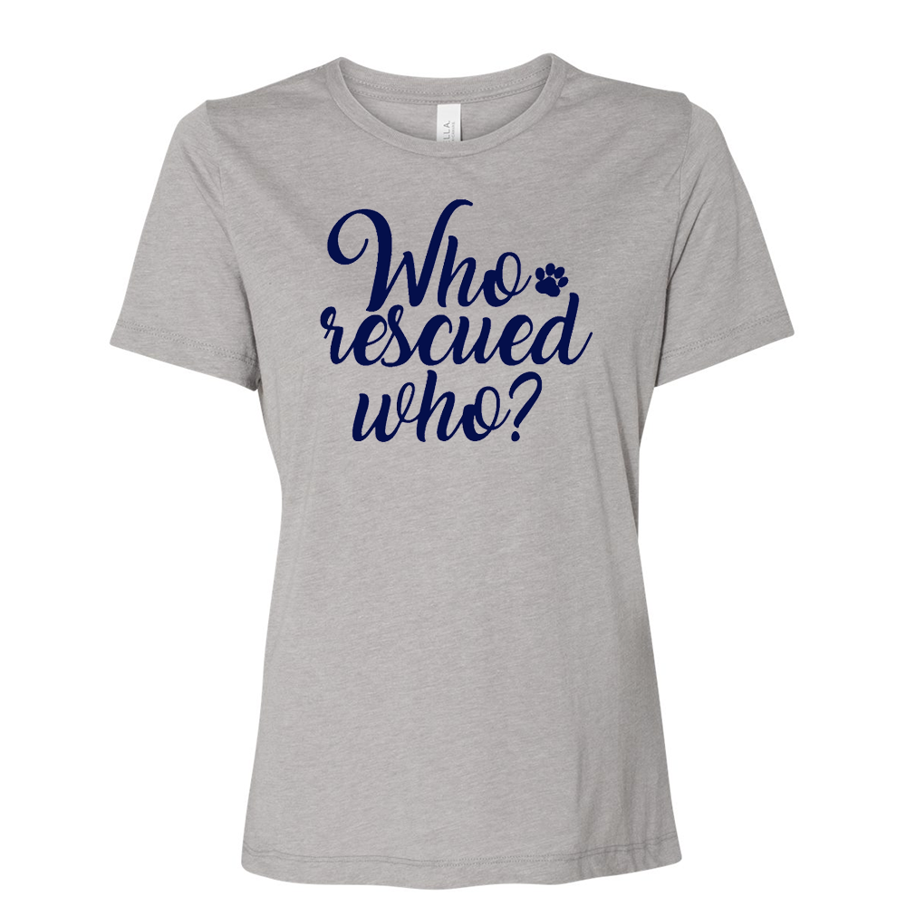 Triblend Women's Dog Rescue Relaxed Crew