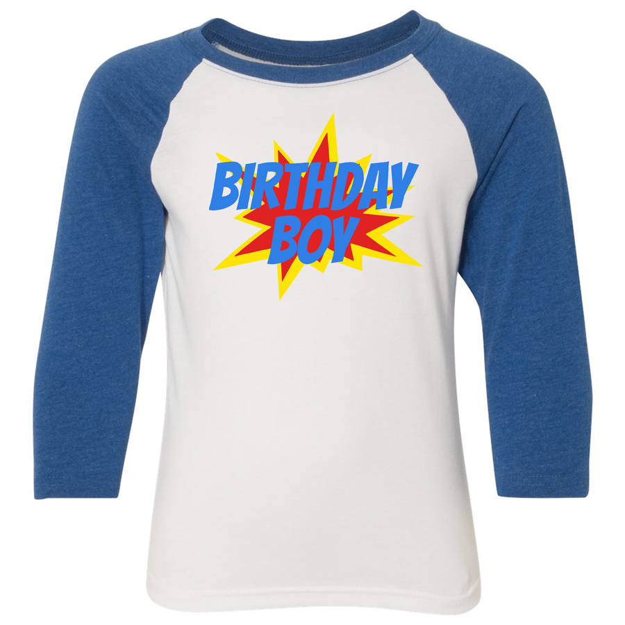 Birthday Boy Youth Raglan