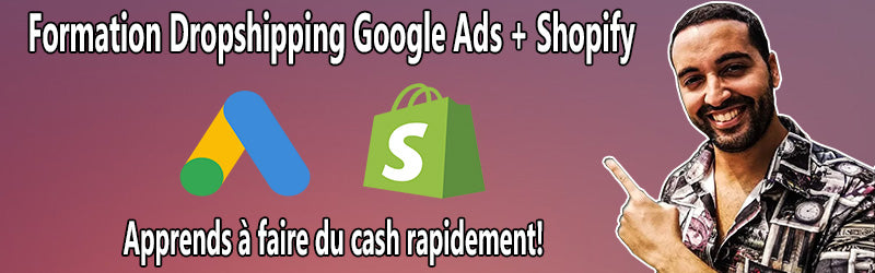 formation dropshipping google ads shopify