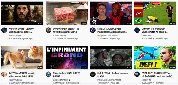 suggestions youtube