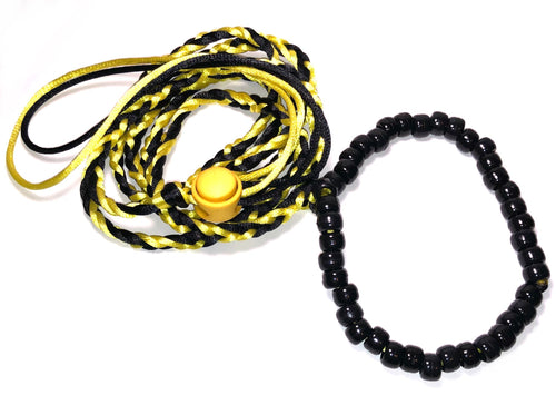 Yellow and black adjustable leash