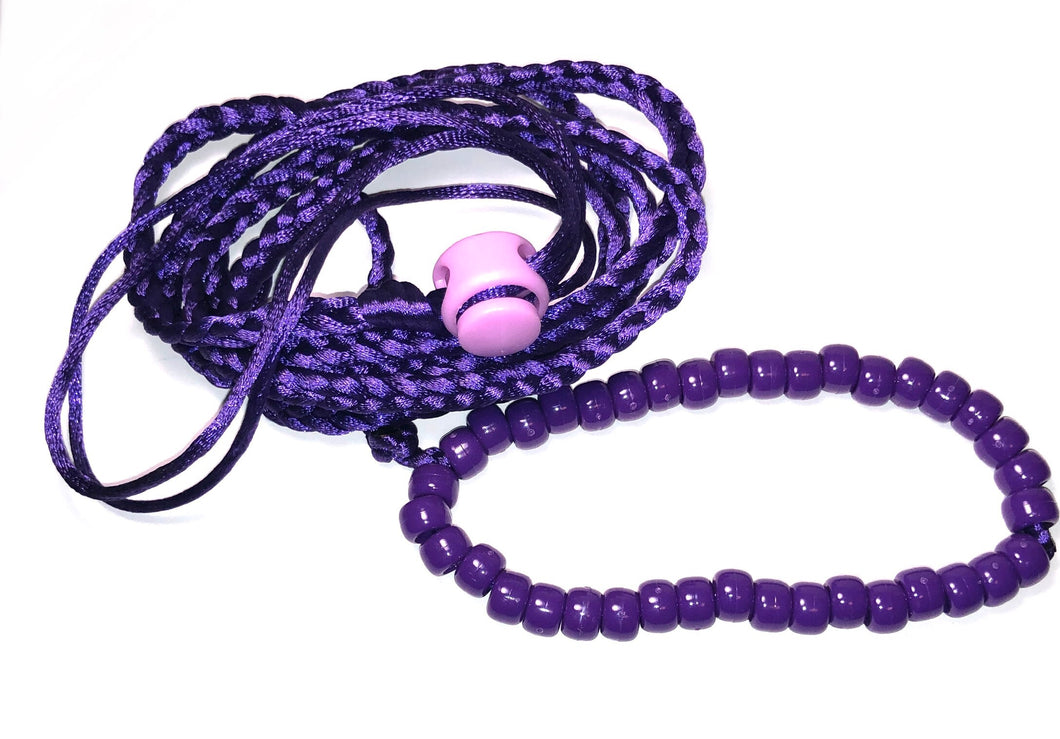 Purple adjustable leash